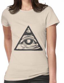 Illuminati eye Womens Fitted T-Shirt