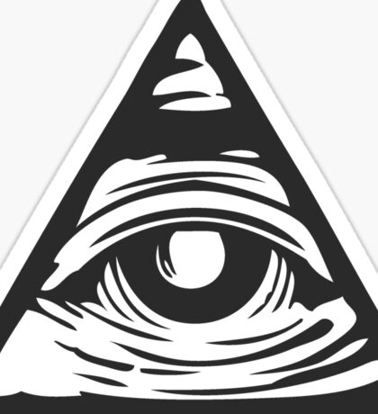 Illuminati eye Sticker