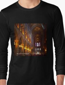 France - Notre Dame Interior Long Sleeve T-Shirt