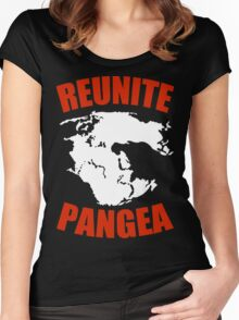 Reunite Pangea Funny Geek Nerd Women's Fitted Scoop T-Shirt