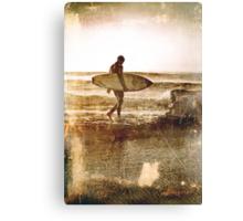 Vintage Surfer Canvas Print