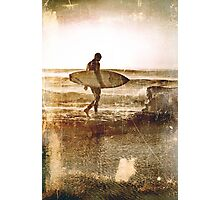 Vintage Surfer Photographic Print