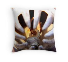 rusty old bell Throw Pillow