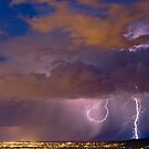 Storm and Suburban Adelaide Lights by pablosvista2