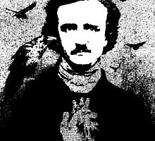 Poe with Ravens and Heart, transparent background by ARTmuffin
