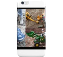 Working in the mud iPhone Case/Skin