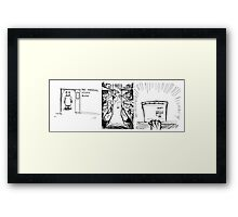 Bear R&D Chemist - Stock Room Framed Print