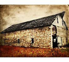 Lime Stone Barn Photographic Print