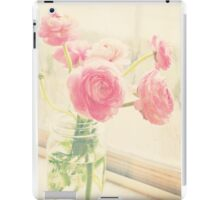 Ranunculus in mason jar iPad Case/Skin