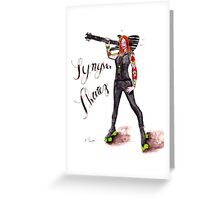 Synister Skatez Greeting Card