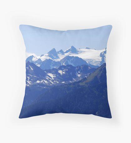 Mt Olympus, Olympic Mountains, Wa Throw Pillow