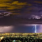 Lightning & Northern Adelaide Lights by pablosvista2