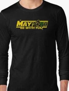 MAY THE 4TH BE WITH YOU Funny Geek Nerd Long Sleeve T-Shirt