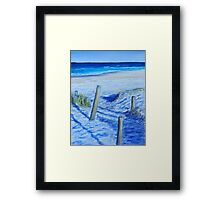 A walk to the beach Framed Print