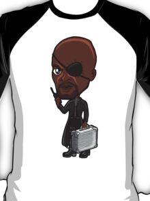 The Avengers - Director Nick Fury with Tesseract Briefcase and Radio T-Shirt