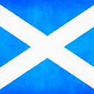 Vintage Flag Of Scotland - The Saltire by Mark Tisdale