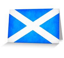 Vintage Flag Of Scotland - The Saltire Greeting Card