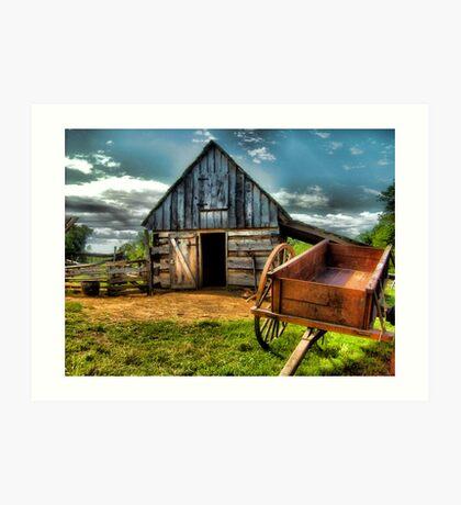 Summer at the Barn Yard Art Print