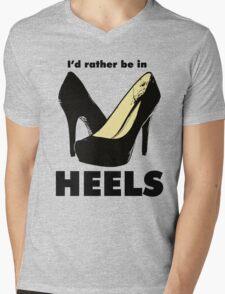 I'd Rather Be In Heels Mens V-Neck T-Shirt