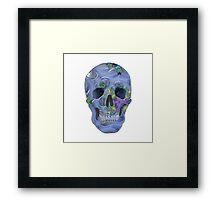 Psychedelic Blue Skull. Framed Print