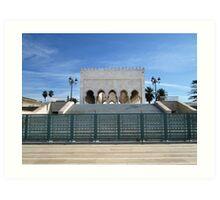 Mausoleum of Mohammed V, Rabat, Morocco Art Print