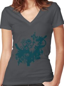 techno tree Women's Fitted V-Neck T-Shirt