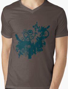 techno tree Mens V-Neck T-Shirt