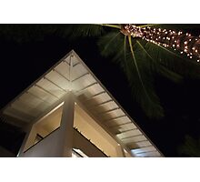 fairy lights and eaves Photographic Print