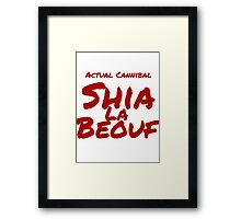 Actual Cannibal. Framed Print