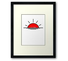 Lets watch the sunrise in 2d Framed Print