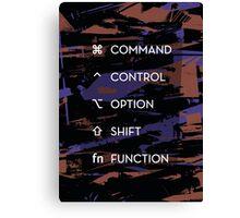 Apple Keyboard Commands Canvas Print