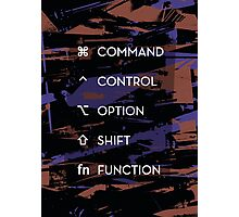 Apple Keyboard Commands Photographic Print