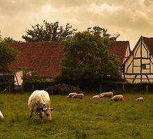 Country scene by Mikhail Lavrenov