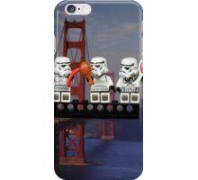 Paleo Stormtroopers over Golden Gate Bridge iPhone Case/Skin