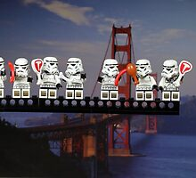 Paleo Stormtroopers over Golden Gate Bridge by themindfulart