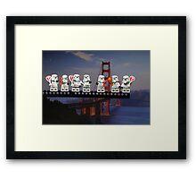 Paleo Stormtroopers over Golden Gate Bridge Framed Print