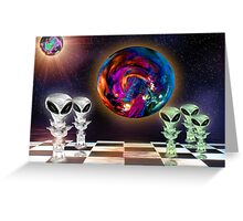 Alien Chess Greeting Card