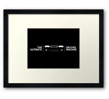 BMW 3 Series (E46) The Ultimate Driving Machine Framed Print