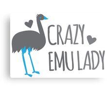 Crazy EMU lady Metal Print