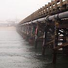 The Bridge and Pub in the Fog by John Sharp