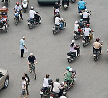 Hanoi Traffic by Matthew Stewart