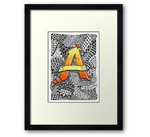 The Alphabet Collection - Letter A Framed Print