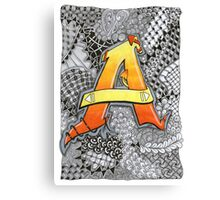 The Alphabet Collection - Letter A Canvas Print