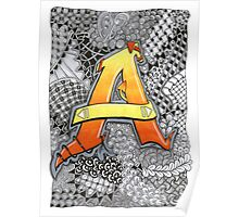 The Alphabet Collection - Letter A Poster