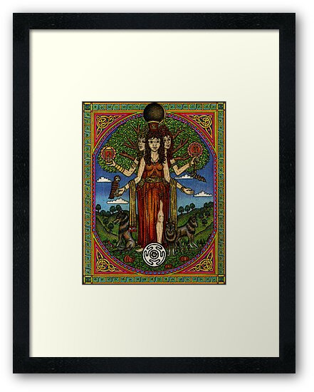 The Goddess Hecate Goddess of Witchcraft and Cross Roads by CherrieB