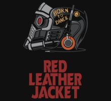 Red Leather Jacket by Prime Premne