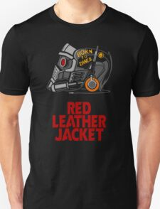 Red Leather Jacket T-Shirt