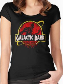 Galactic Bark Women's Fitted Scoop T-Shirt