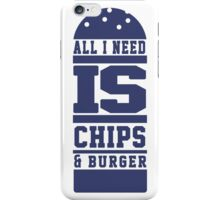 Chips & Burger iPhone Case/Skin