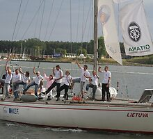 """my a young daughter traveling around Europe 1,5 month with sailing-boat """"Lietuva"""" by Antanas"""